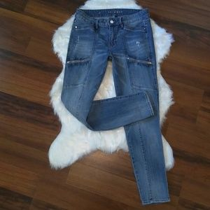 WHBM The Skimmer skinny jeans size 6